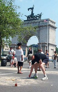 Getting Down at Grand Army Plaza