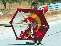 Cypriat boy with kite