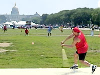 Stickball on the National Mall