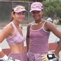 Brenda and Tracy might not have won this year's doubles title, but they surely made this year's fashion statement.