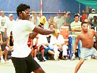 Satish Jagnandan and Peewee Castro in this year's final match