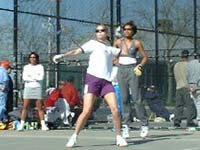 Tracey Davis and Dori Ten playing in Women's finals.