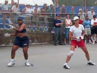Karen McConney and Priscilla Shumate battled for the women's title