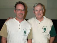 Father and son in the Stickball Hall of Fame