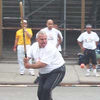 Carlos Diaz at bat during 2000 Memorial Day tournament
