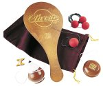 Wooden top, yo-yo & paddleball set